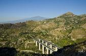 Highway to volcano Etna — Stock Photo