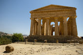 Greek temple, at Agrigento, Sicily — Stok fotoğraf