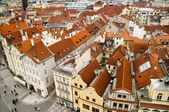 Rooftops of Prague from birds-eye view. — Stock Photo