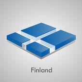 European flags set (glossy bricks) — 图库矢量图片