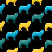 Abstract triangular animal — Vector de stock
