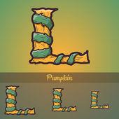 Halloween decorative alphabet - Tree & roots. — Stock Vector