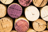 Close-ups of wine corks backgrounds — Stock Photo