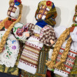 Collectible Ukrainian folk dolls — Stock Photo