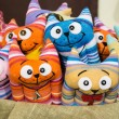 Stock Photo: Handmade rag doll cute cats