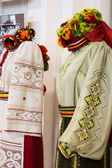 Mannequin with Ukrainian national clothes — Stock Photo