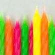 A bunch of colorful birthday candles — Stock Photo