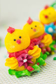 Easter chicken decoration — Stock Photo