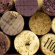 Background of Various Used Wine Corks close up — Stock Photo