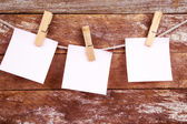White paper over an old wood background — Stok fotoğraf