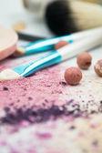 Makeup set isolated on white background — Stock Photo