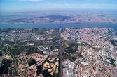 Lisbon and ocean — Stock Photo