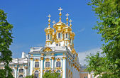 Orthodox russian Church in Pushkin — Stock Photo