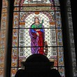 Stained-glass window in cathedral — Stock Photo #30305959