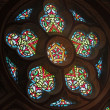 Stained-glass window in cathedral — Stock Photo #30306037