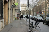 French street with buildings — Stock Photo