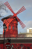 Mill in paris of moulin rouge — Stock Photo