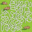 Hedgehogs Maze Game — Stock Vector #22466363