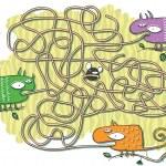 Chameleons Maze Game — Stock Vector #22467411
