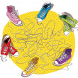 Sneakers Maze Game — Stock Vector #22468875