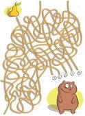 Gioco del labirinto di orso — Vettoriale Stock