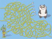 Panda Maze Game — Stock Vector
