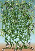 Eight Snakes Maze Game — Stock Vector