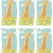 Happy Giraffe Visual Game - Stock Vector