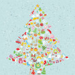 Royalty-Free Stock Vector Image: Christmas Tree Square Card
