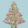 Christmas Tree Square — Stockvector #22496687