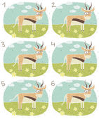 Antelope Visual Game — Stock Vector