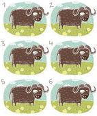 Buffalo Visual Game — Stock Vector