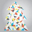 Christmas Tree Greeting Card — Stockvektor