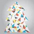 Noel ağacı tebrik kartı — Stok Vektör