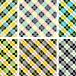 Plaid patterns collection — Stock Vector
