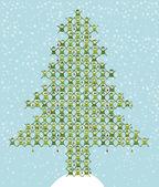 Santa's Elf Doing Christmas Tree — Stock Vector