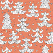 Christmas Trees Collection Pattern — Stock Vector