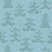 Christmas Trees Collection Pattern — Vecteur