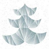 Pop Christmas Tree Greeting Card — Stock Vector