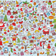 Big Christmas Collection of fine small hand drawn illustrations — Stock Vector #22510739