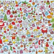 Stock Vector: Big Christmas Collection of fine small hand drawn illustrations