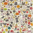 Royalty-Free Stock Obraz wektorowy: Big Halloween Icons Collection