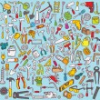 Big Tools Collection — Stock Vector