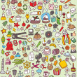 Big Doodle Icons Set - Stock Vector
