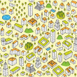 Architecture Set Seamless pattern — Stock Vector