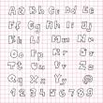 Hand Drawn Alphabet ABC — Stock Vector #22522953
