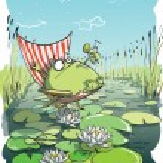 Frog Having Fun — Stock Vector