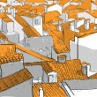 Old City Rooftops - Stock Vector