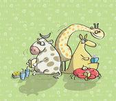 動物が楽しく no.10 — ストックベクタ