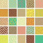 Set of 25 Different Seamless Patterns — Stock Vector